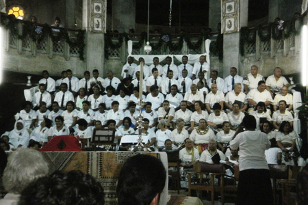 Choir at Holy Trinity Cathedral, Suva, Fiji in the Diocese of Polynesia. (shipoffools.com)