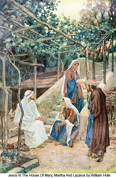 Including their brother Lazarus in the traditional feast day of Mary and Martha diminishes the well-worn focus on Mary as the wise but lazy one and Martha as the hardworking, anxious one; after all, Jesus thought so much of Lazarus that he resurrected him after three days as a prefigurement of his own rising from the dead. We can also understand these three as Lazarus, the penitent; Mary, the contemplative; and Martha, the active worker. (William Hole)