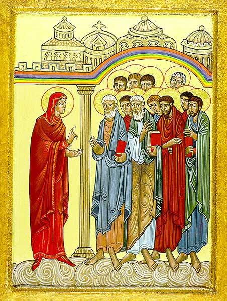 Sr. Mary Charles McGough, OSB: St. Mary Magdalene Announces the Resurrection. (Church of St. Mary Magdalene, San Diego, California)