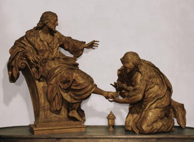 Giovanni Giuliani: St. Mary Magdalene Anointing the Feet of Christ (Heilegenkreuz Abbey, Austria)