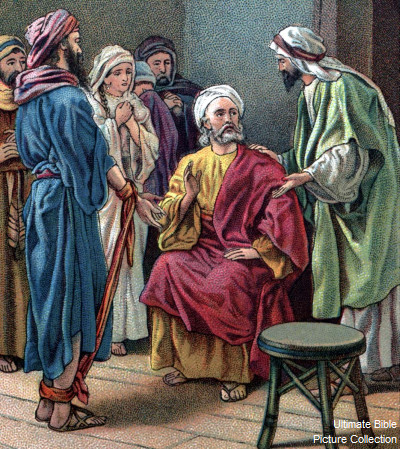 Paul is warned by Agabus. (Ultimate Bible Picture Collection)