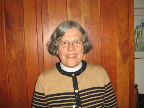 We are very pleased to announce that the Rev. Gwen Hetler, a priest in the Diocese of Northern Michigan, has agreed to become our volunteer Chaplain, after serving in the same capacity during our retreat ten days ago and celebrating our first Holy Eucharists for a live congregation. She will assist the Vicar in liturgical and pastoral matters and, when needed, serve as Confessor to those without the services of a priest. She and her husband Fr. Jim Livingston are mainstays of our webcast congregation and of the Holy Innocents' house church in Little Lake, Michigan. Our first Eucharists were transcendent experiences for those of us on retreat. Thank you for your service, Mother Gwen!