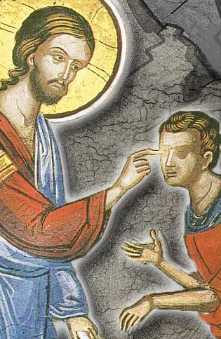 Healing a blind man. (Coptic Orthodox Church Fathers)