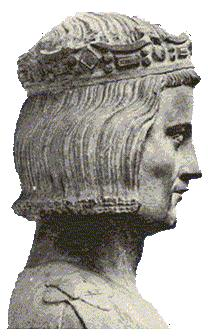 A 14th century bust, considered true to life, of St. Louis at the church in Mainneville, France. He became king at age 12, took power at 18, banned gambling, blasphemy, usury and gambling, and reformed the legal code, abolishing trial by ordeal. He also bought relics of Christ and built the world-famous Saint-Chapelle to house them in glory. (Wikipedia)
