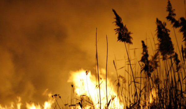 Chaff burning in unquenchable fire