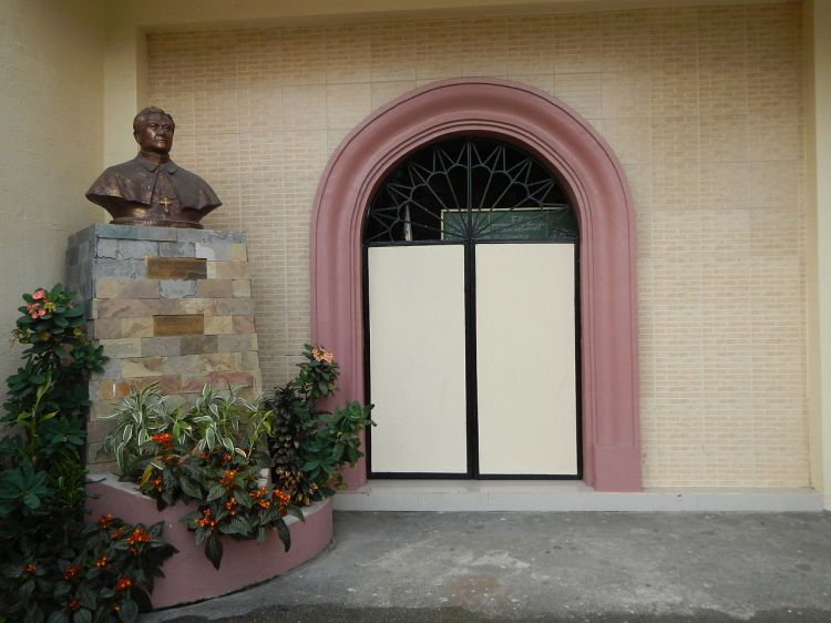Bust of Gregorio Aglipay at the IFI Church in Samal, Bataan, Philippines. In his later years he drifted toward Unitarianism and denied the Trinity, but the IFI refused to go along. The Episcopal Church recognizes him as a holy figure, despite his later beliefs, because he guided the spiritual underpinnings of the Philippine Revolution, helping to remove the racist oppression and colonialism of Spain and its Roman Catholic Church. (Ramon Velasquez)