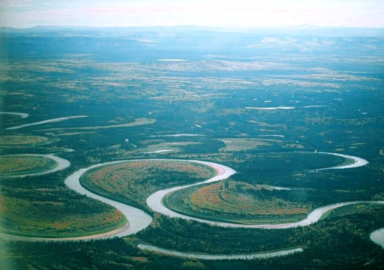 For the beauty of the Earth: oxbow forming on the Nowitna River, Alaska. (Oliver Kurmis)