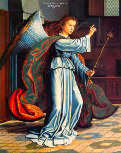 Gerard David, 1506: The Angel Gabriel at the Annunciation