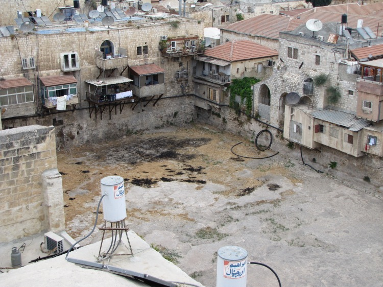 This may be Hezekiah's Pool at Siloam, renowned for its healing powers; photo from 2012. (generationword.com)