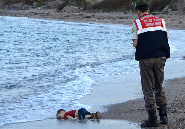 The world was shocked in September by this photograph of Alan Kurdi, age 2, who drowned in the Mediterranean Sea after his family tried to escape the war in Syria. Since then: 100 more children have drowned, with nobody to take their picture. (Nilufer Demir/Agence France-Presse)