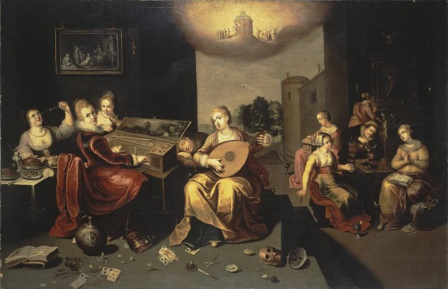 Hieronymus Francken the Younger: Parable of the Wise and Foolish Virgins, c. 1616. (Wikipedia)