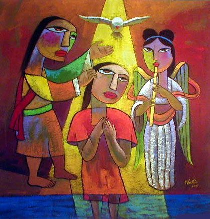 He Qi: Baptism of Christ