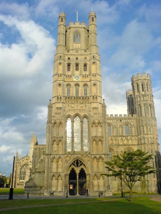 Ely Cathedral, England dates to 1983; its octagonal tower helps draw 250,000 visitors a year. (Wikipedia)