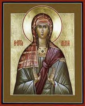 St. Lydia was St. Paul's first European convert, a dealer in purple goods and wealthy businesswoman who gave him and his companions Timothy and Silas lodging and a base of operations. (iconographer unknown)