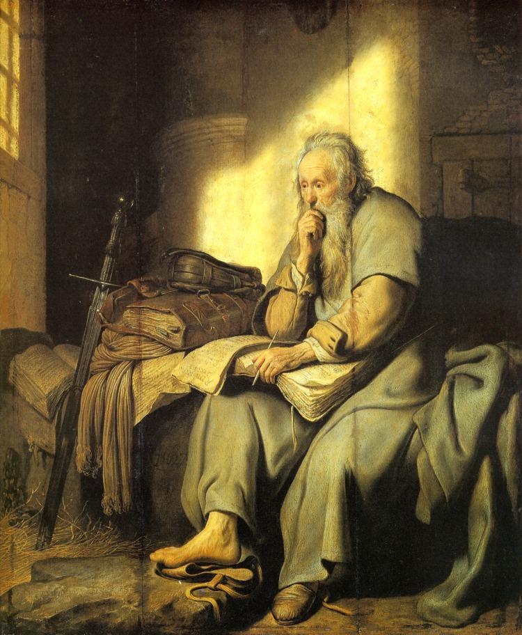 Rembrandt: St. Paul in Prison