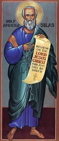 St. Silas is often associated with Berea, a town in ancient Macedonia he and Paul visited and evangelized. (Wikipedia)