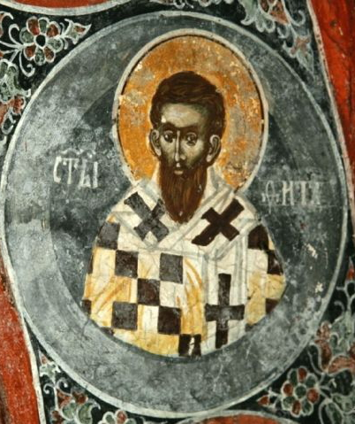 Anonymous, 14th C., in a church in Kosovo: St. Titus