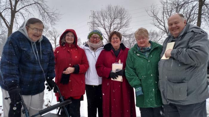 One of the least known ministries of our clergy is the dignified burial of indigent persons who die without friends of family. At St. James's, Milwaukee, Wisconsin, an organized ministry including laypeople serves the city. Our own Jill Littlefield, center, is one of them and supplied this photo.
