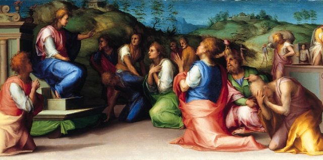 Jacopo Pontormo, 1515: Joseph's Brothers Beg Him for Help (National Gallery)