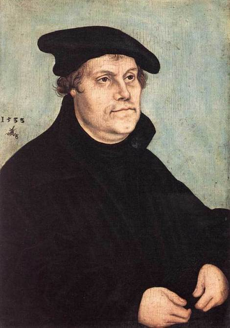 "Cranach's famous portrait of Martin Luther has been reproduced almost as much as the Praying Hands. Now Luther was a terrible, wicked, horrible anti-Semite later in life; he wrote a book called ""On Jews and Their Lies,"" and his views have been repudiated by Lutherans worldwide. But before this he expressed great sympathy for their persecution (by Roman Catholics) and excitement about the prospect of converting them to Christianity. But he failed miserably at it, and that seems to have led to his bitter attitude afterward. But as to his teaching that Romanism cried out for reform, we count him generally right."