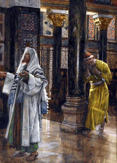 James Tissot: Parable of the Pharisee and the Publican.