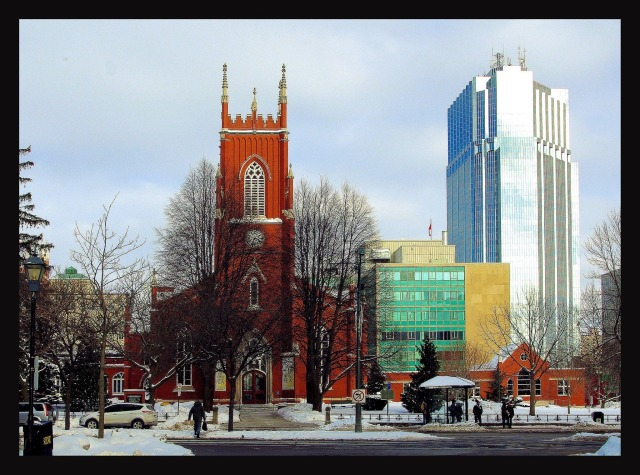 St. Paul's Cathedral, London, Ontario. Built in 1846, it is the oldest church in the city; Bishop Linda Nicholls, elected Bishop Coadjutor on Saturday, will eventually take her seat here, God willing. (Evan A on Facebook)