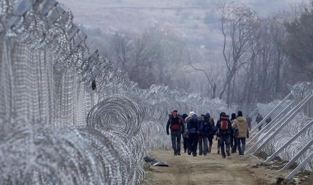 What it looks like when we hear European countries are closing their borders to refugees: Gevgelija, Macedonia, 29 February. (Boris Grdanoski/Associated Press)
