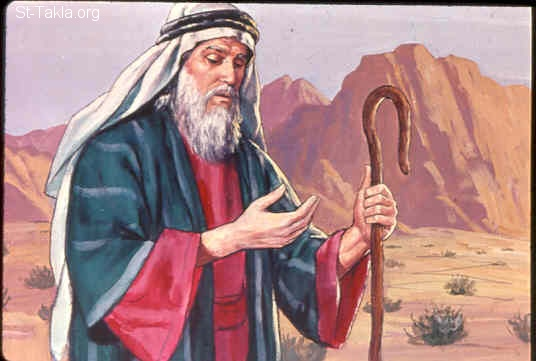 Moses' leprous hand. (St-Takla.org)