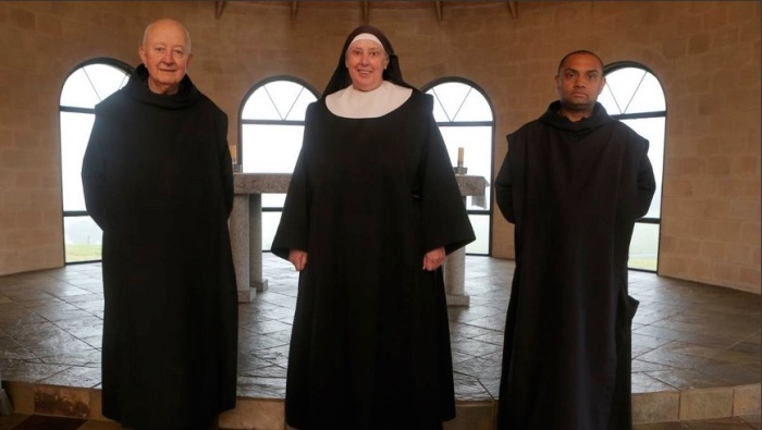 St. Mark's Abbey, Camperdown, Victoria: Dom Placid, Sr. Raphael and Fr. Aidan, Anglican Benedictines. (Amy Paton/The Standard)