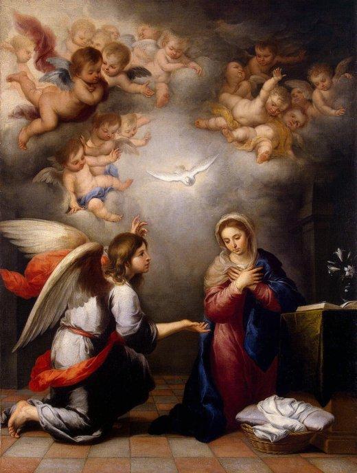 Bartolomé Esteban Perez Murillo: Annunciation