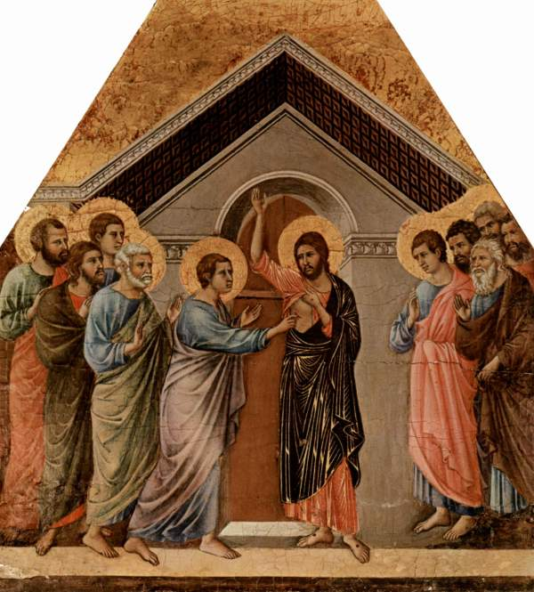 Christ Appearing to the Eleven (Duccio di Buoninsegna, 1311)