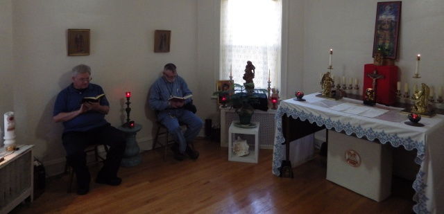 Praying the Daily Office in the chapel of the Community of the Mother of Jesus (from their website)
