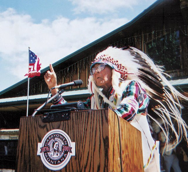 """Joseph Medicine Crow has died, a historian, war chief and the last link to the Battle of Big Horn. As a child he was taught about that epic conflict from Crow Indians who served as scouts for U.S. General George Custer, whose forces were wiped out by Sioux Indians. Later """"Joe Crow"""" served in Germany during World War II, where he performed the four acts required of Crow men to become war chiefs. He earned a master's degree in anthropology, became tribal historian and anthropologist, and spent the rest of his life educating White Americans and his own people about the Crows' history and culture. President Obama awarded him the Presidential Medal of Freedom in 2009. (Beck Bohrer/Associated Press)"""