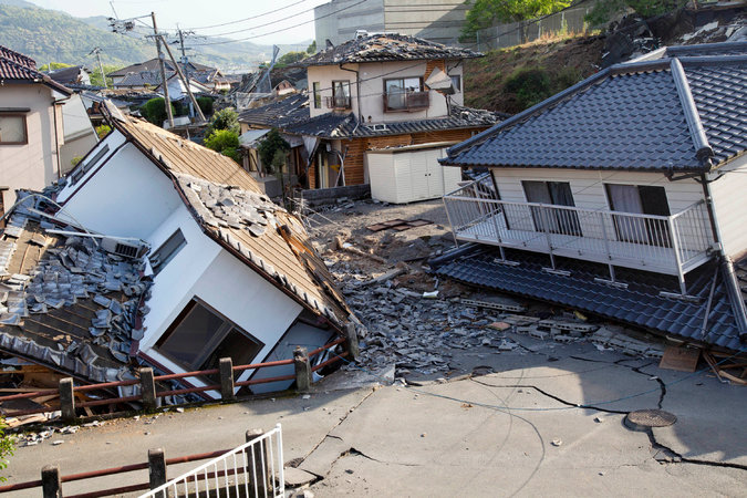 We offer prayers for the area around Mashiki, Japan and the 42 killed in earthquakes Thursday and Saturday, as well as for those injured and displaced. (Ko Sasaki/The New York Times)