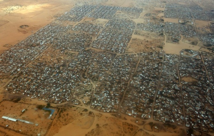 Kenya has announced it plans to close all refugee camps, including the world's largest at Dadaab, displacing 600,000 Somalis and South Sudanese, ostensibly out of concern that some Al-Shabaab terrorists live among the refugees, a claim denounced by Human Rights Watch. This is at least the fourth time Kenya has made the threat; previous announcements have resulted in international donations to keep the camps open. But this time the Kenyan government has shut down its refugee department and said it will accept no more arrivals. (Oli Scarff/Getty Images)