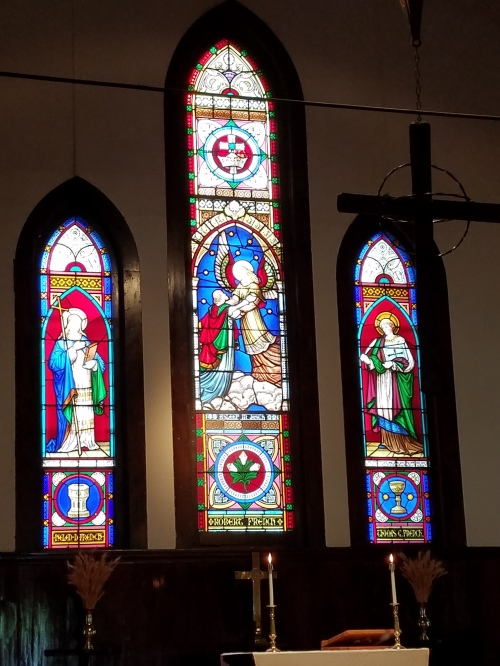 Chapel windows at Ascension Camp and Conference Center in the Diocese of Eastern Oregon. (Beth Spell)