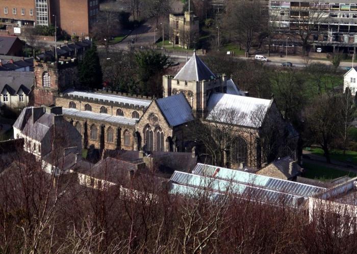 Bangor Cathedral, Wales (Wikipedia)