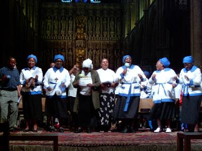 Bernard Mizeki Day prayer vigil for Zimbabwe at Southwark Cathedral, London, 2003. (source unknown)