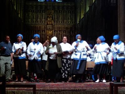 Bernard Mizeki Day prayer vigil for Zimbabwe at Southwark Cathedral, London, 2003. (source unknown)