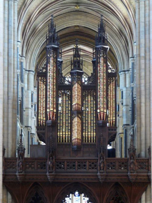 Organ case at Beverley Minster. (Wikipedia)