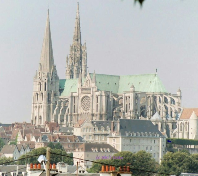 The Cathedral at Chartres, France, 2003 (John Ridder)