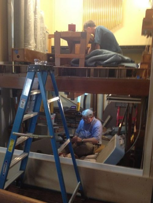 Most people - and most Anglican churches - only see this once in their lifetimes: the installation of a new organ; St. Paul's, Jeffersonville, Indiana is now in the thick of it. My parish is now in the fundraising stage, which is $300,000 just to make a good start. (The Gathered Community newsletter)