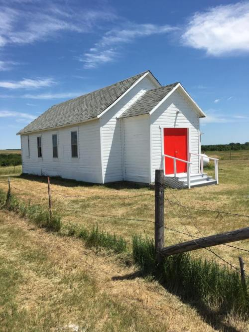 St. Paul's, Norris today, after three parishes from neighboring Minnesota arrived with paint, tools and a willingness to sweat. Good as new! (Mother Lauren Stanley)