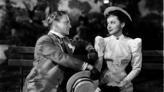 """Academy Award-winning actress Olivia de Havilland turned 100 on Friday, an occasion of joy for her millions of fans around the world. She may be best known for """"Gone With the Wind"""" and a series of films with Errol Flynn, but she proved her range as a dramatic actress in pictures like """"The Snake Pit"""" and """"The Heiress"""" once she freed herself from indentured servitude at Warner Bros., where she was stuck playing ingenues and girlfriends. Her successful lawsuit freed actors and recalibrated the balance of power in Hollywood. A lifelong Episcopalian and longtime resident of Paris, she has served as a lector at the American Cathedral on important holy days as recently as three years ago - jobs she prepared for as carefully as any acting part. Above: with James Cagney in """"The Strawberry Blonde,"""" 1941. (UCLA Film and Television Archives)"""