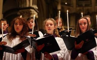 "The Girls' Choir at Canterbury Cathedral in England has released their first CD of music by Henry Purcell, having quieted criticism for ""invading male space"" since their founding two years ago. The English tradition of professional choirs of men and boys is 900 years old, a beloved institution in the English Church, and critics worried that girls would chase out the boys. But that hasn't happened, it will not happen, and at least half the worshiping Church is glad that a needless gender barrier has finally been taken down. God created both kinds, and that should be the end of it. The argument really was about jobs, prestige, money and power, as it always is; but let musicianship win out. (Gareth Fuller/Press Association)"