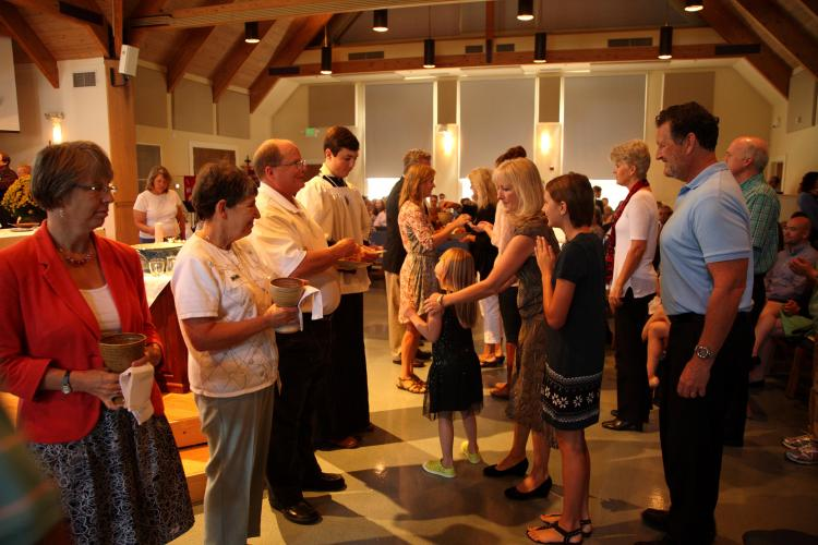 Holy Communion at Christ Church, Richmond, Virginia. (source unknown)