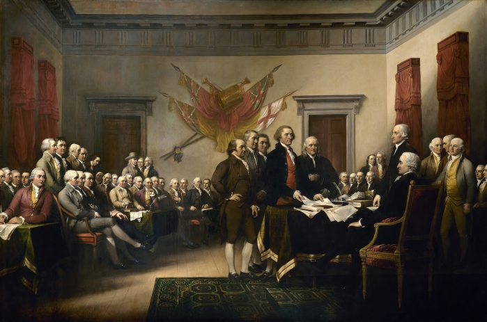 John Trumbull: Signing the Declaration of Independence