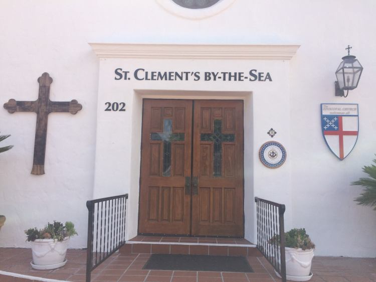 St. Clement's in San Clemente, California has a new sign which is tasteful, but very visible from the street. We should never underestimate the importance of signage and other forms of advertising; there's nothing particularly sacred about low-tech, hand-lettered message boards from a century or two ago, especially to people driving past at high speeds. (Katrina Soto)
