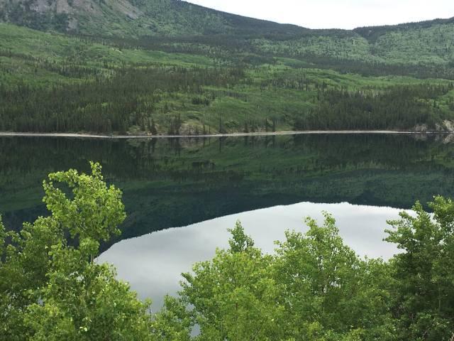 Mountain lake at Carcross, Yukon (Steve Helmreich)