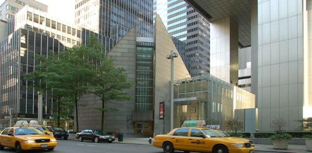St. Peter's Roman Catholic Church in midtown Manhattan, New York; the architecture conveys a sense of excitement in the bustling urban landscape. (parish website)